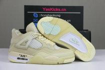 """Authentic Off-White x Air Jordan 4 """"Sail"""""""