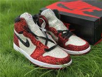 Authentic The Shoe Surgeon x Air Jordan 1 Red/White-Black GS