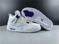 Perfect Air Jordan 4 White/Purple