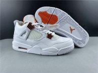 Perfect Air Jordan 4 White/Orange