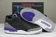 Authentic Air Jordan 3 Black/Purple