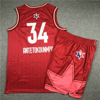 NBA All-Star #34 Suit-Red