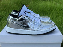 Authentic Air Jordan 1 Low Silver
