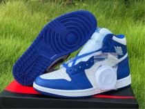 Authentic Air Jordan 1 High OG Blue/White