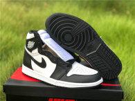 Authentic Air Jordan 1 High OG Black/White-Black Noir/Blanc GS