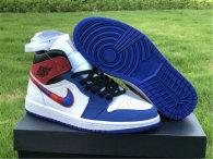 Authentic Air Jordan 1 Mid Red/White/Blue GS
