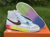 Authentic Nike Blazer Mid '77 Vintage White/Bright Cactus-Hyper Pink GS
