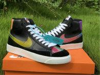 Authentic Nike Blazer Mid '77 Vintage Black/Bright Cactus-Hyper Pink GS