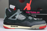 "Authentic OFF-WHITE x Air Jordan 4 ""Bred"""