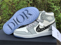 Authentic Dior x Ai Jordan 1 GS High Top (with dior boxes)