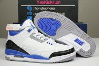 Authentic Fragment x Air Jordan 3 White/Black/Blue