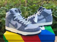 Authentic Nike Dunk High Dark Blue/Light Blue GS