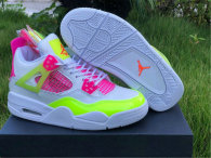 "Authentic Air Jordan 4 GS ""Lemon Venom"""