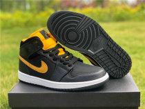 Authentic Air Jordan 1 Mid Black/Yellow