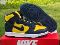 "Authentic Nike Dunk High ""Michigan"""