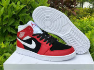Authentic Air Jordan 1 Mid Gym Red/White-Black
