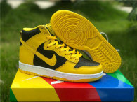 Authentic Nike Dunk High Black/Yellow/White