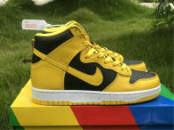Authentic Nike Dunk High Black/Yellow/White GS