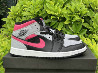 Authentic Air Jordan 1 Mid Pink Shadow GS