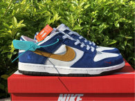 Authentic Kasina x Nike Dunk Low Sail/White-Neptune Green-Industrial Blue GS