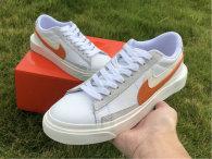 Authentic Nike Blazer Low White/Orange GS