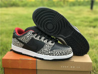 Authentic Nike Dunk Low Black-Cement Grey