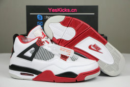 "Authentic Air Jordan 4 OG ""Fire Red"" 2020"