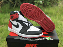 "Authentic Air Jordan 1 OG High ""Black Toe"""
