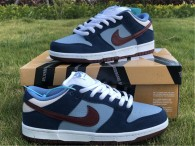 Authentic Nike Dunk Low Midnight Navy/White GS
