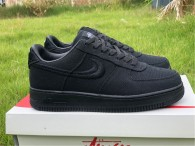 Authentic Stussy x Nike Air Force 1 Low Black