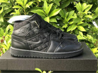 "Authentic Air Jordan 1 Mid ""Black Quilted"" GS"
