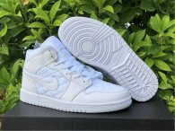 "Authentic Air Jordan 1 Mid ""White Quilted"""