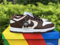 Authentic Supreme x Nike SB Dunk Low White/God/Brown GS