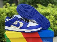 Authentic Supreme x Nike SB Dunk Low White/God/Blue