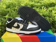 Authentic Supreme x Nike SB Dunk Low White/God/Black GS