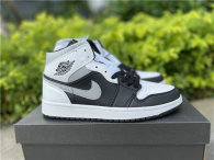 "Authentic Air Jordan 1 Mid ""White Shadow"""