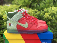 """Authentic Nike SB Dunk High """"Strawberry Cough"""" GS"""