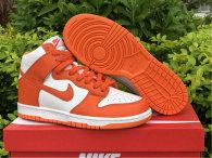 Authentic Nike SB Dunk High White/Orange