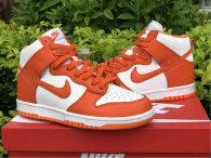 Authentic Nike SB Dunk High White/Orange GS