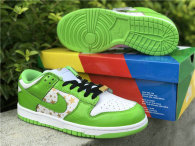 Authentic Supreme x Nike SB Dunk Low White/God/Green GS