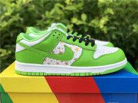 Authentic Supreme x Nike SB Dunk Low White/God/Green