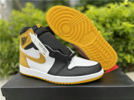 Authentic Air Jordan 1 White/Black/Yellow