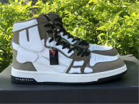 Amiri Skel High-Top Khaki/White