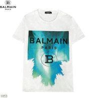 Balmain short round collar T-shirt S-XXL (9)