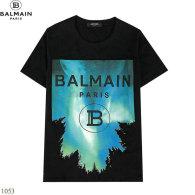Balmain short round collar T-shirt S-XXL (10)