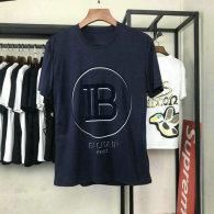 Balmain short round collar T-shirt S-XXL (11)