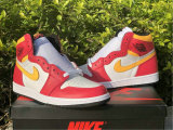 "Authentic Air Jordan 1 High OG ""Light Fusion Red"""
