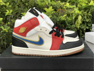 Authentic Air Jordan 1 Mid Black/White/Red/Metallic Gold hardware