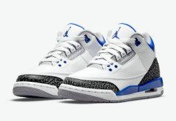 "Authentic Air Jordan 3 ""Racer Blue""(Presell)"