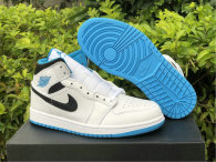 "Authentic Air Jordan 1 Mid ""Laser Blue"""